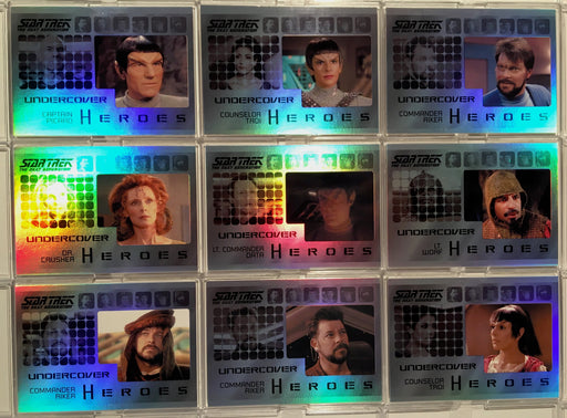 Star Trek TNG Heroes & Villains Undercover Heroes Chase Card Set H1-H9 2013   - TvMovieCards.com