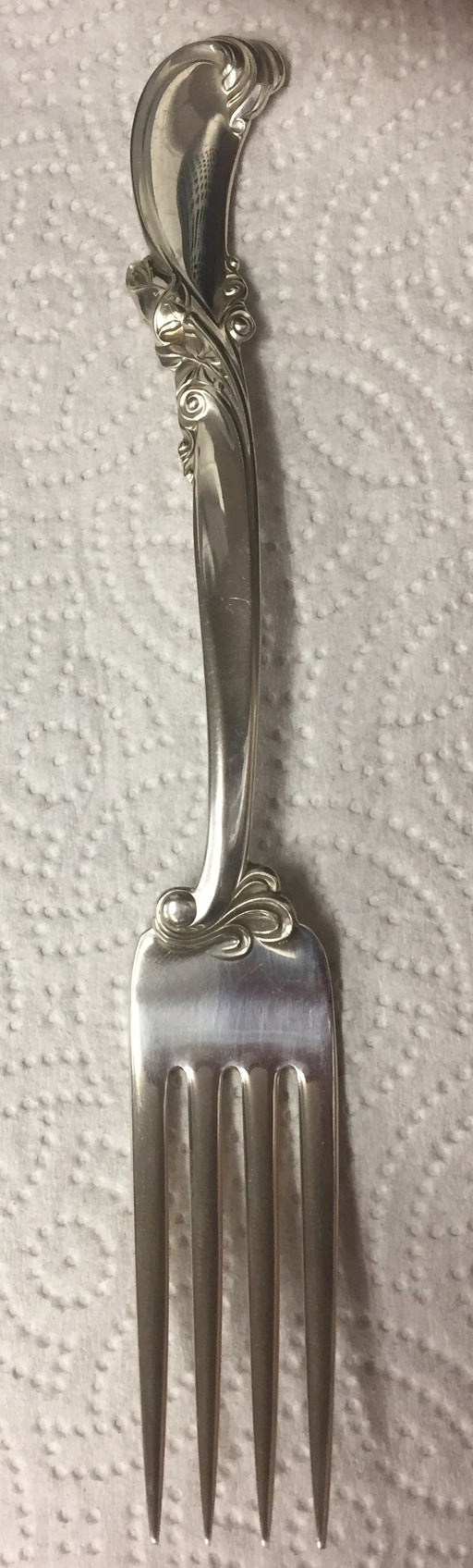 Waltz of Spring Sterling Silver Fork by Wallace 7-1/4 inch   - TvMovieCards.com