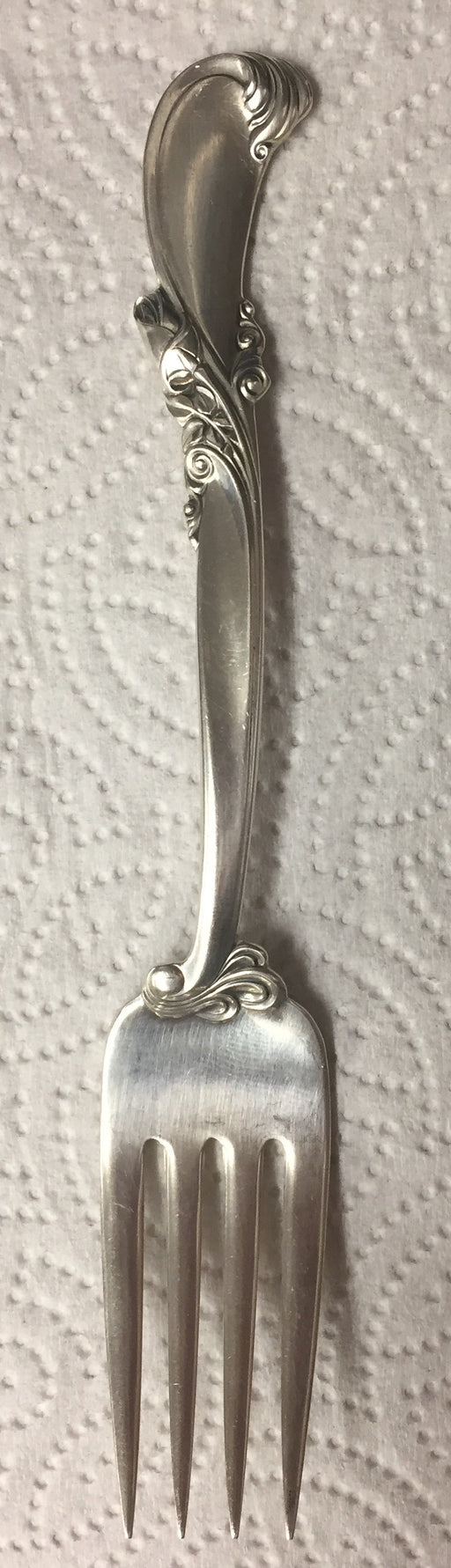 Waltz of Spring Sterling Silver Salad Fork by Wallace 6-3/8 inch   - TvMovieCards.com