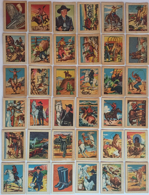 Hopalong Cassidy Wild West Vintage Card Set 36 Cards 1951   - TvMovieCards.com