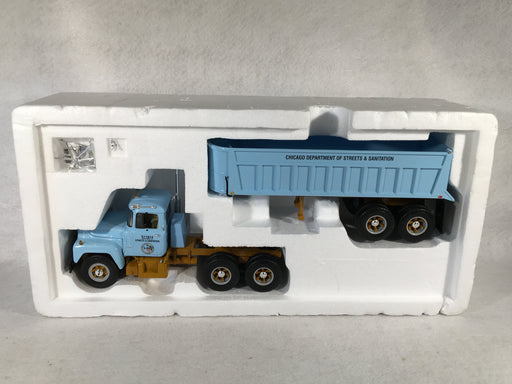 1st First Gear 1/34 Scale City of Chicago Mack R-Model w/Dump Trailer 19-2515   - TvMovieCards.com