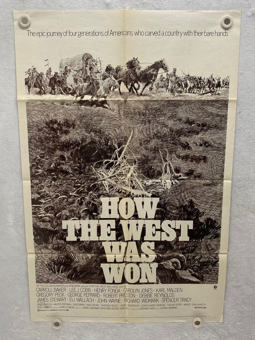 1970 How The West Was Won 1SH Movie Poster 27 x 41 James Stewart, John Wayne   - TvMovieCards.com