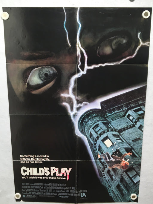1988 Childs Play Original 1SH Movie Poster 27 x 40 Chucky Horror Good Guys Doll   - TvMovieCards.com