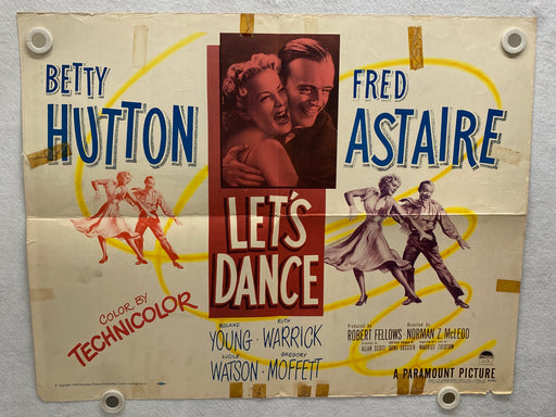 1950 Let's Dance Half Sheet Movie Poster 22 x 28 Betty Hutton, Fred Astaire   - TvMovieCards.com
