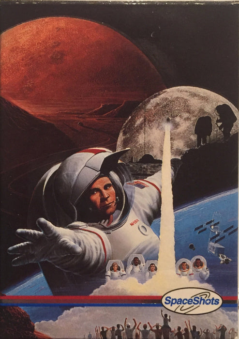 NASA Moon Mars Space Shots Photos Embossed Card Set 36 Cards   - TvMovieCards.com