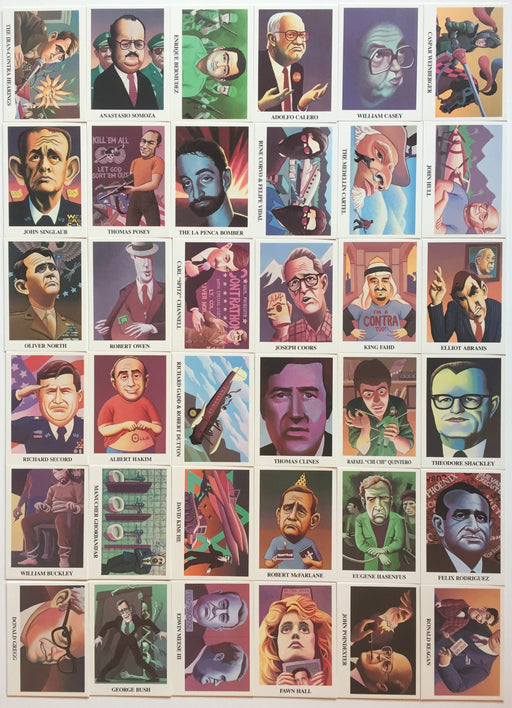 Iran Contra Scandal Card Set 36 Cards Political Humor 1988   - TvMovieCards.com