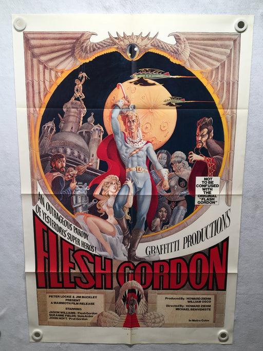 1974 Flesh Gordon Original Movie Poster Graffitti Productions 27 x 41   - TvMovieCards.com