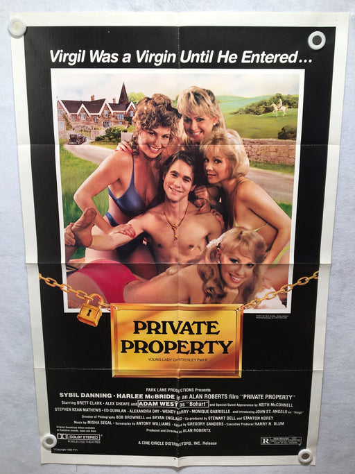 1985 Private Property - Young Lady Chatterley II Original 1SH Movie Poster   - TvMovieCards.com