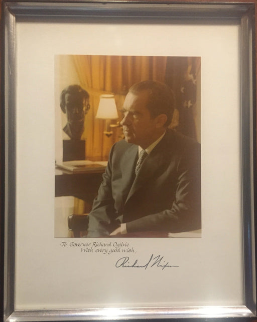Original Signature Signed Photograph President Richard Nixon to Richard Ogilvie   - TvMovieCards.com