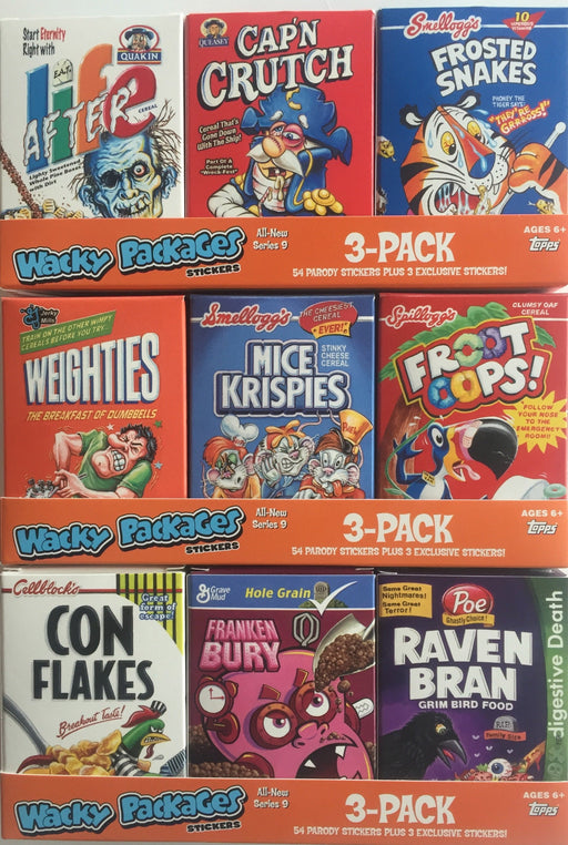 Losse kaarten Wacky Packages Stickers Series 9 Cereal Box Sticker Card Set 9 Cards Topps 2012