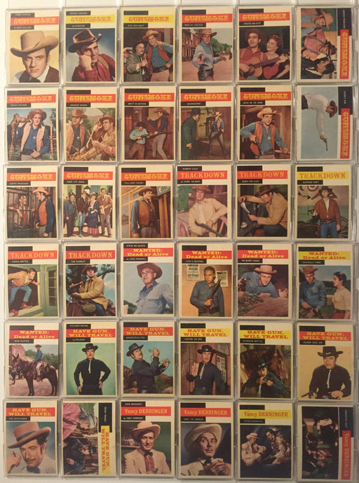 Tv Westerns Complete Vintage Card Set (71) Topps 1958   - TvMovieCards.com