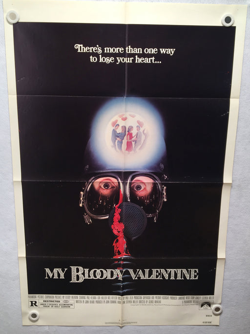 1981 My Bloody Valentine Original 1SH Movie Poster 27 x 41 Horror Thriller   - TvMovieCards.com