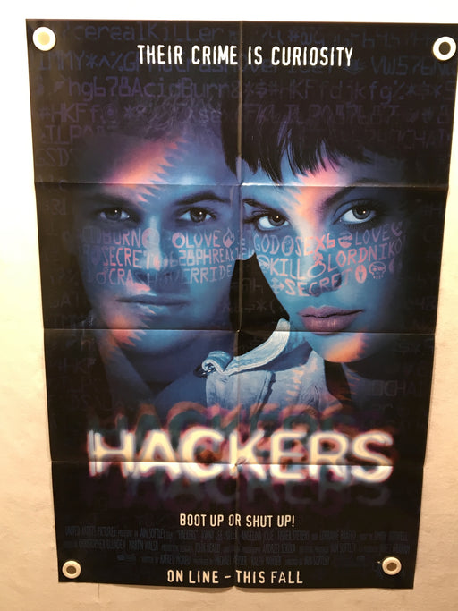 1995 Hackers Original 1SH Movie Poster 27 x 41 Angelina Jolie Jonny Lee Miller   - TvMovieCards.com