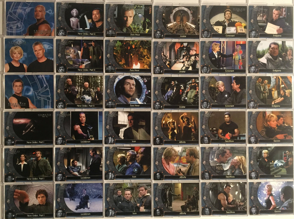 Stargate SG-1 Season Eight Base Card Set 72 Cards   - TvMovieCards.com