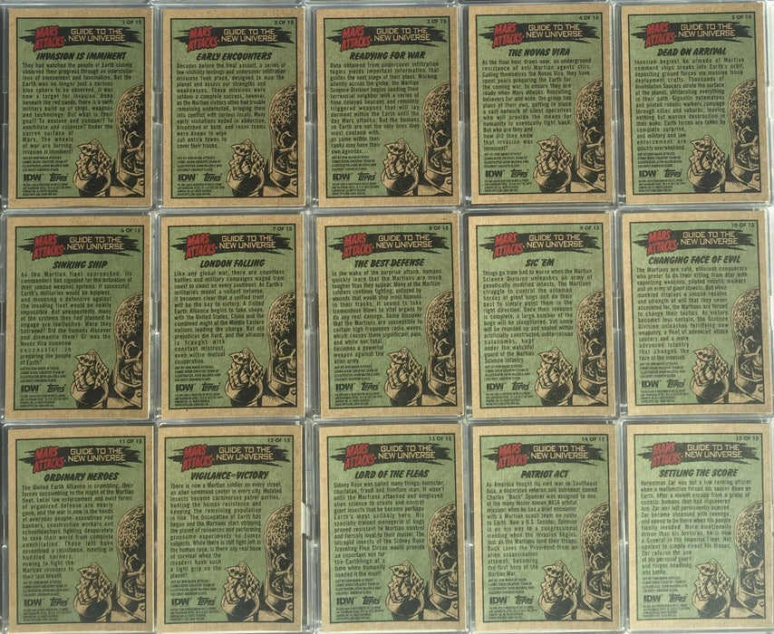 Mars Attacks Guide to the New Universe Chase Card Set 15 Cards Topps 2012   - TvMovieCards.com