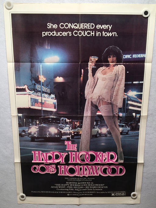 1980 The Happy Hooker Goes Hollywood 1SH Movie Poster 27 x 41 Martine Beswick   - TvMovieCards.com