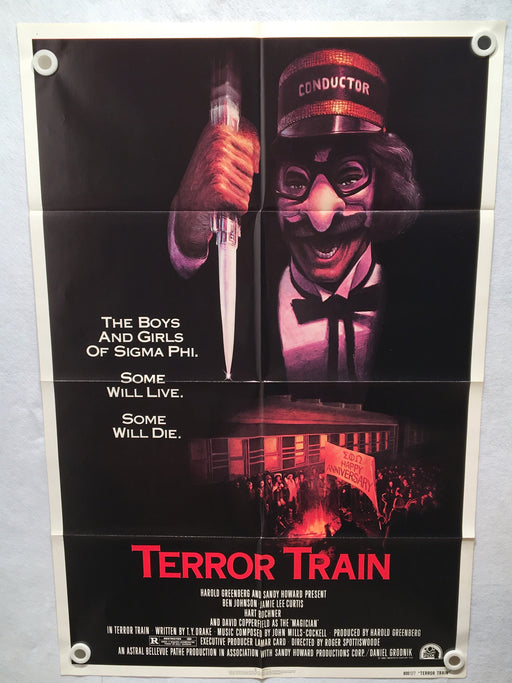 1980 Terror Train Original 1SH Movie Poster 27 x 41 Jamie Lee Curtis   - TvMovieCards.com