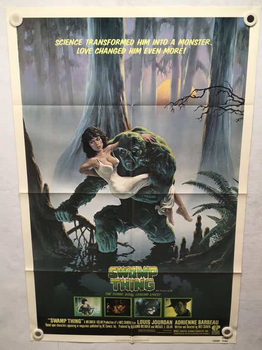 1982 Swamp Thing Original 1SH Movie Poster 27 x 41 Adrienne Barbeau Wes Craven   - TvMovieCards.com