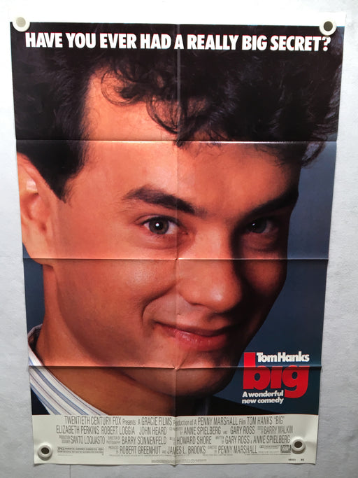 1988 Big Original 1SH Movie Poster 27 x 41 Tom Hanks Elizabeth Perkins   - TvMovieCards.com