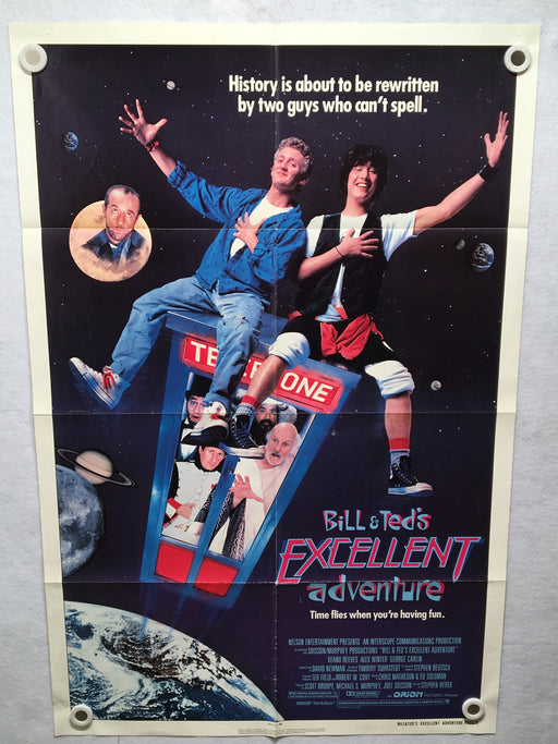 1989 Bill and Teds Excellent Adventure Original 1SH Movie Poster 27 x 41 Reeves   - TvMovieCards.com