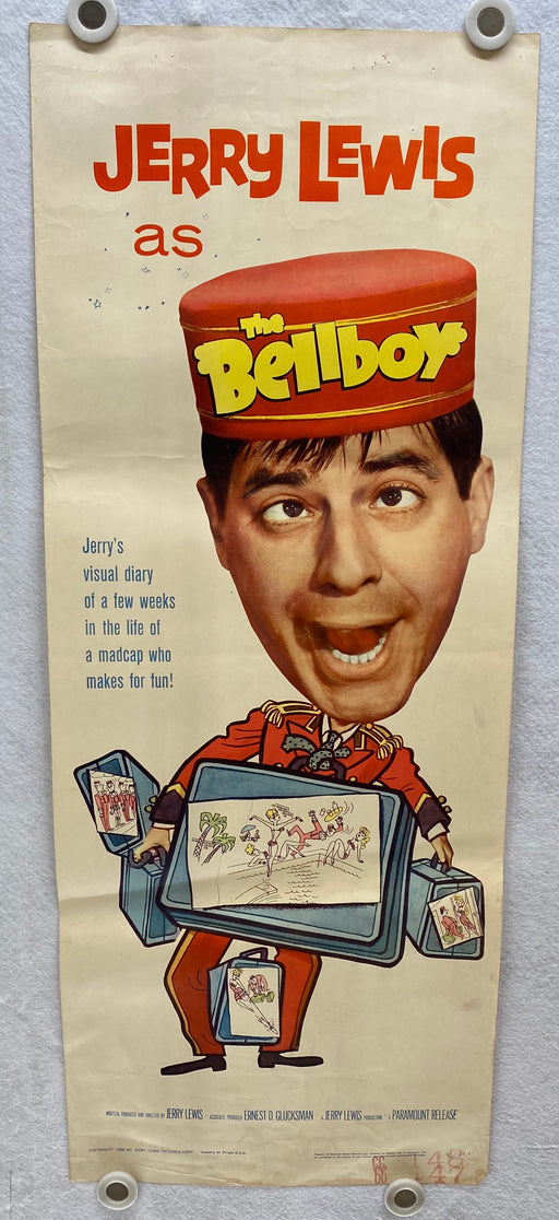 1960 The Bellboy Insert Movie Poster 14 x 36 Jerry Lewis, Alex Gerry, Bob Clayton   - TvMovieCards.com