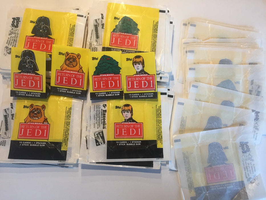 200 Return of the Jedi Vintage Card Gum Wrappers Mixed Series 1  & 2 Topps 1983   - TvMovieCards.com