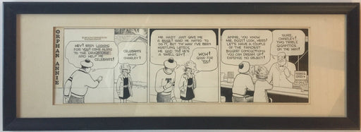Little Orphan Annie Comic Strip Original Art by Harold Gray 10-27-1967 Framed   - TvMovieCards.com