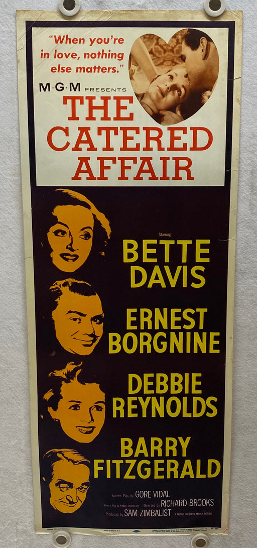 1956 The Catered Affair Insert Movie Poster 14 x 36 Bette Davis, Debbie Reynolds   - TvMovieCards.com