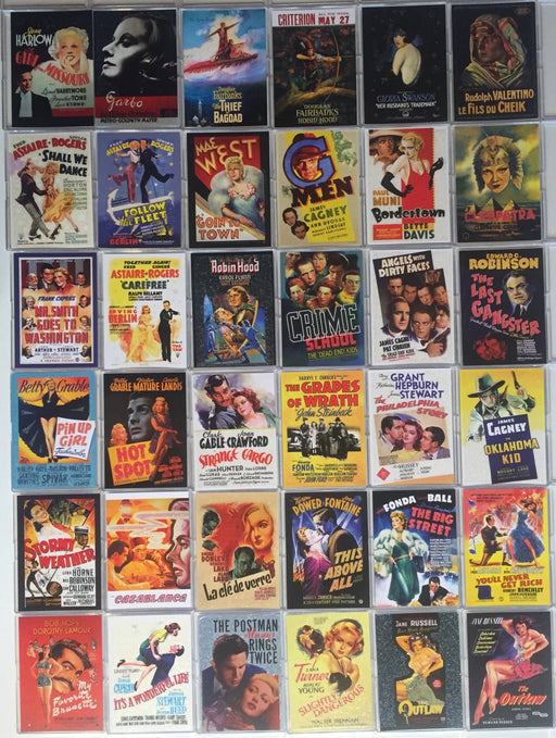 Movie Posters Classic Vintage Movie Posters Series 1 Breygent Base Card Set   - TvMovieCards.com