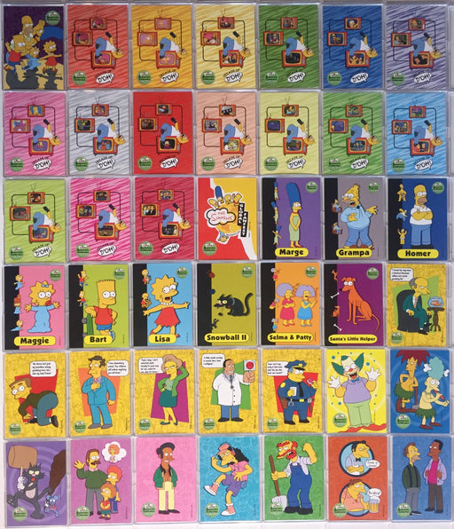 Simpsons 10th Anniversary Celebration Base Card Set Inkworks 2000   - TvMovieCards.com