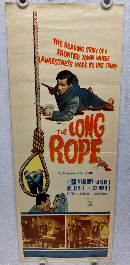1961 The Long Rope Insert Movie Poster 14 x 36 Hugh Marlowe, Alan Hale Jr   - TvMovieCards.com