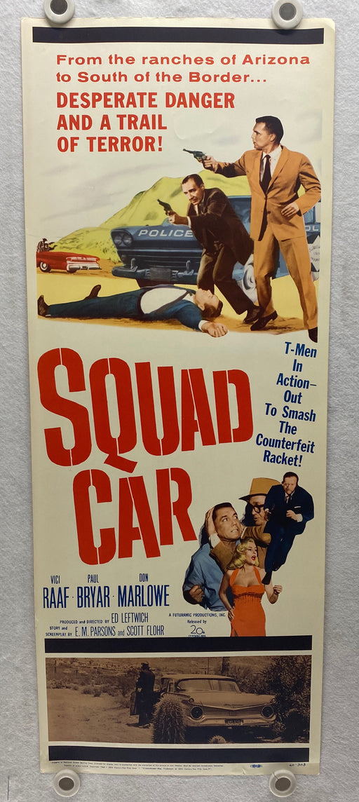 1960 Squad Car Insert Movie Poster 14 x 36 Vici Raaf, Paul Bryar, Don Marlowe   - TvMovieCards.com