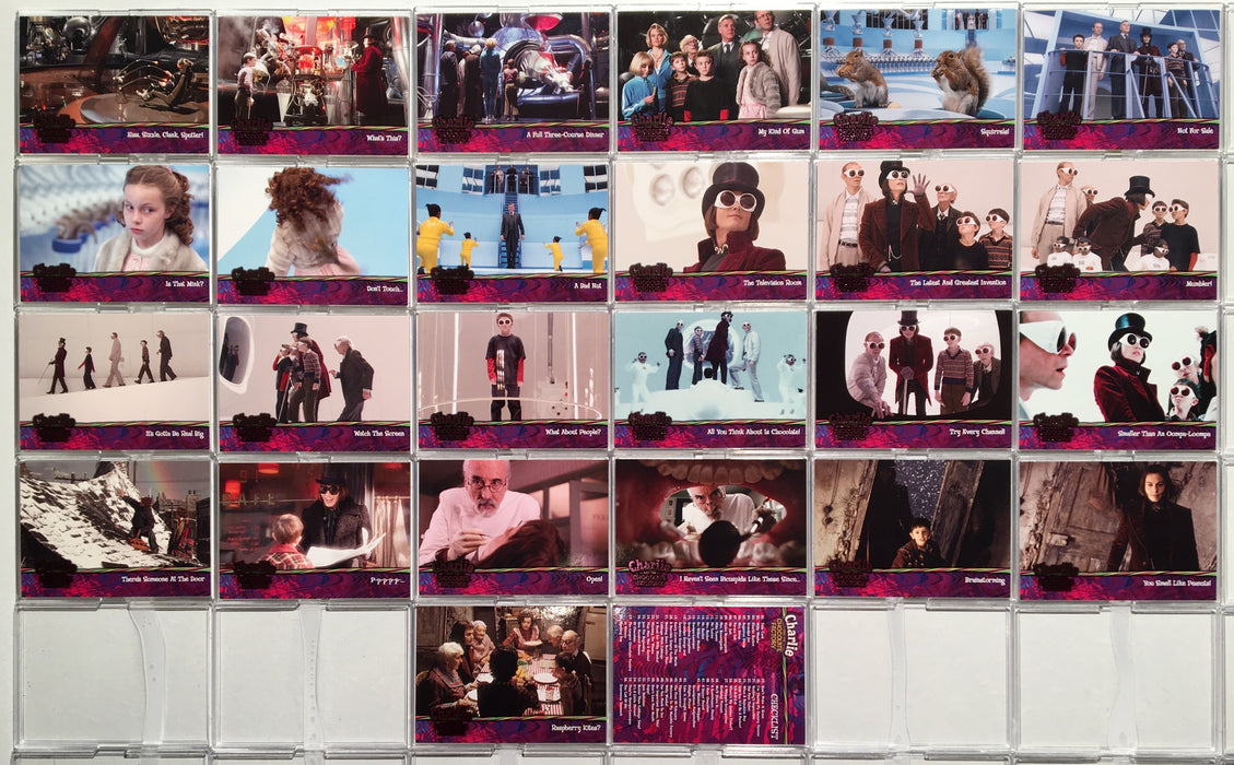 Charlie & Chocolate Factory Base Card Set 90 Cards Artbox 2005   - TvMovieCards.com