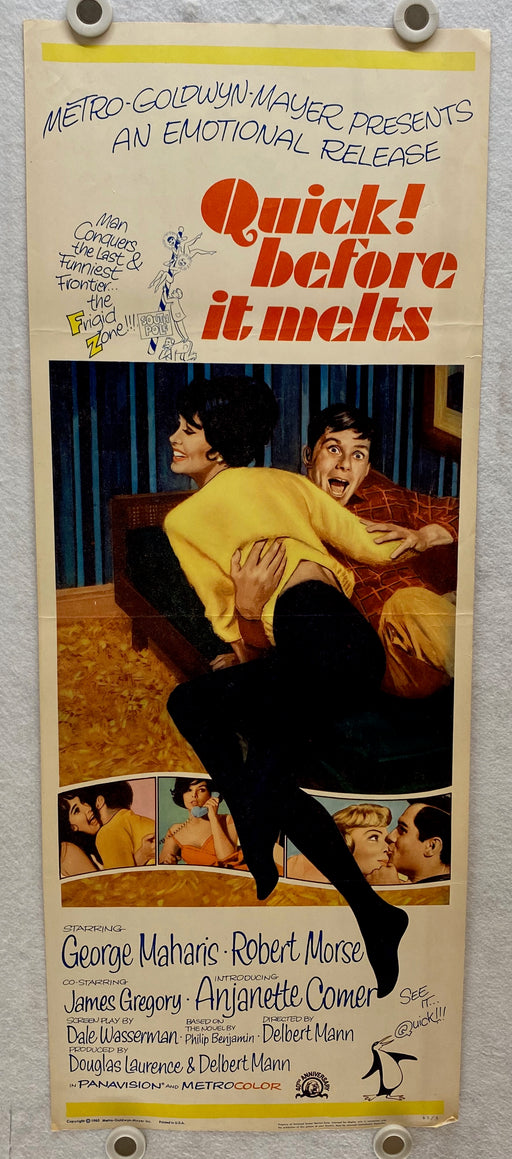 1964 Quick, Before It Melts Insert 14 x 36 Movie Poster George Maharis   - TvMovieCards.com