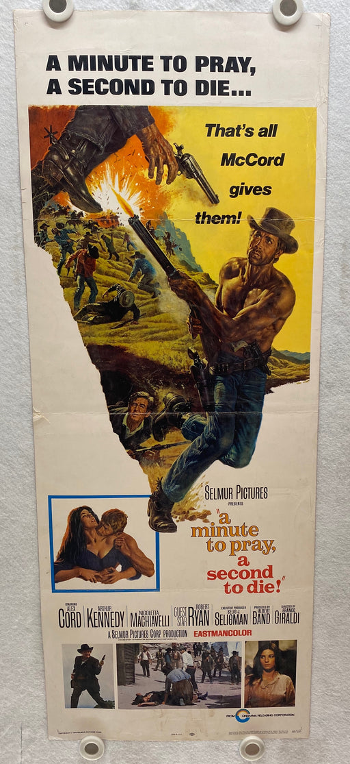 1968 A Minute to Pray, a Second to Die Insert 14 x 36 Movie Poster Alex Cord   - TvMovieCards.com