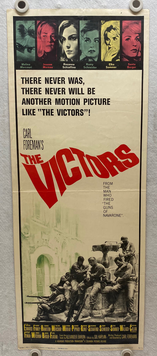 1963 The Victors Insert 14x36 Movie Poster Vince Edwards, Albert Finney   - TvMovieCards.com