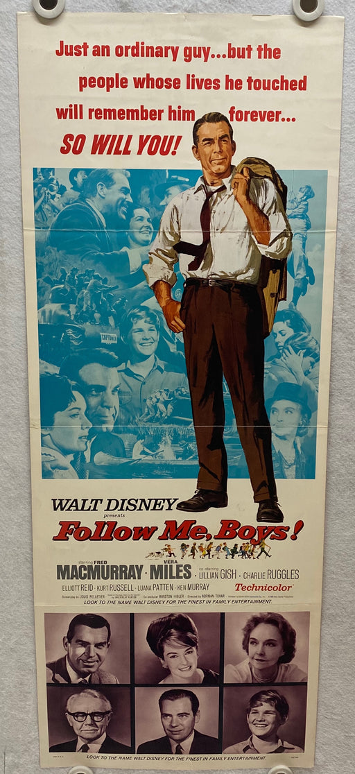 1966 Follow Me, Boys! Insert 14x36 Movie Poster Fred MacMurray, Vera Miles   - TvMovieCards.com
