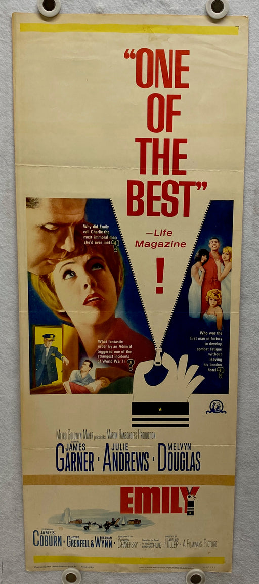 1964 The Americanization of Emily Insert 14x36 Movie Poster Julie Andrews   - TvMovieCards.com