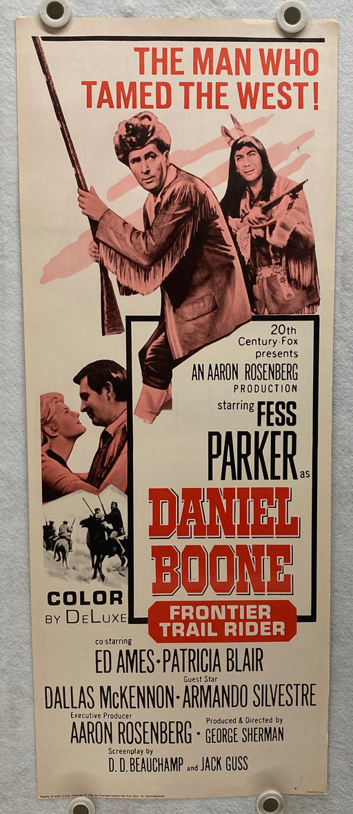 1966 Daniel Boone: Frontier Trail Rider Insert 14x36 Movie Poster Fess Parker   - TvMovieCards.com