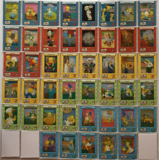 Simpsons Filmcardz Base Card Set 45 Filmcards   - TvMovieCards.com