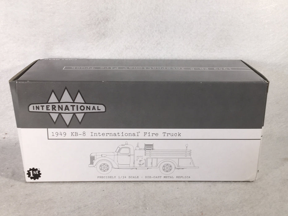 First Gear 1/34 1949 International KB-8 Civil Defense Firetruck 19-2721   - TvMovieCards.com