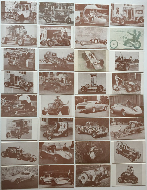 Hot Rods and Customs Car Exhibit Card Set  32 Cards 1972   - TvMovieCards.com