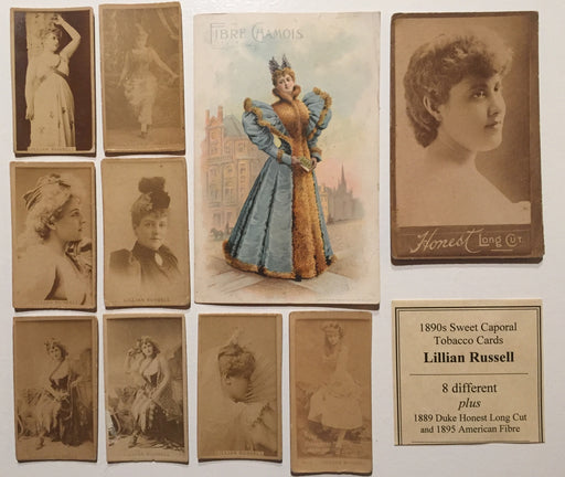 Lillian Russell  8 Sweet Caporal Tobacco plus 2 Vintage Card Lot 10 Cards 1890's   - TvMovieCards.com