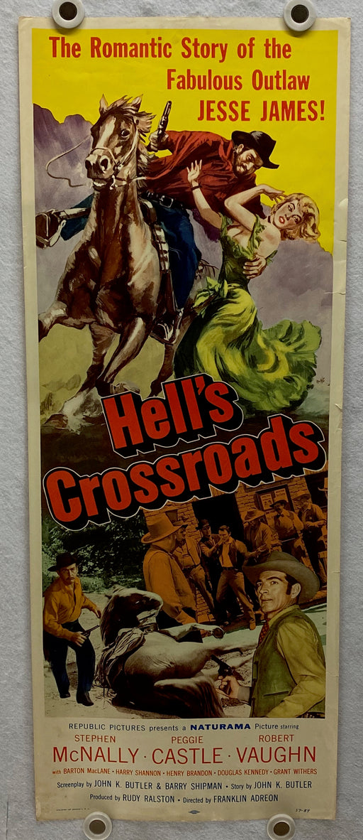 1957 Hell's Crossroad Insert 14 x 36 Movie Poster Stephen McNally, Peggie Castle   - TvMovieCards.com