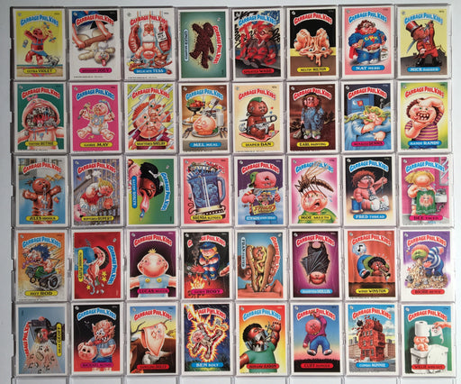 Garbage Pail Kids GPK Series 5 Sticker Card Set A 40 Cards Non Die Cut   - TvMovieCards.com