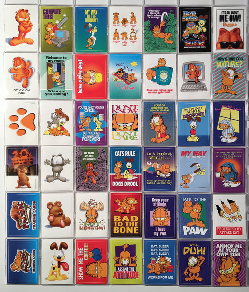 Garfield Vinyl Cling Stickers Chase Card Set 42 Sticker Cards Pacific 2004   - TvMovieCards.com