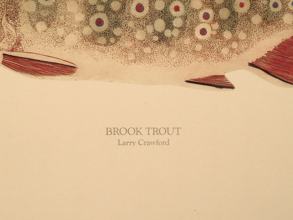 "Larry Crowford ""Brook Trout"" Limited Edition Lithograph Print   - TvMovieCards.com"