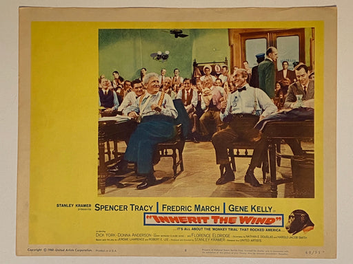 1960 Inherit the Wind #8 Lobby Card 11x14 Spencer Tracy Fredric March Gene Kelly   - TvMovieCards.com