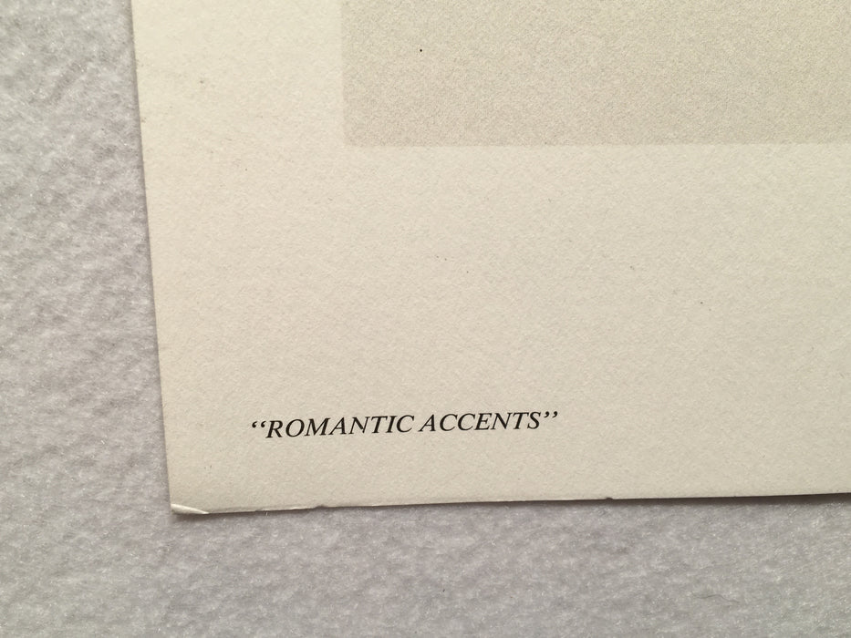 "Mary Vincent Bertrand ""Romantic Accents"" Limited Edition Signed Print   - TvMovieCards.com"
