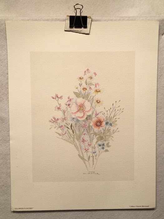 "Mary Vincent Bertrand ""Flower Fancies"" Limited Edition Signed Print   - TvMovieCards.com"